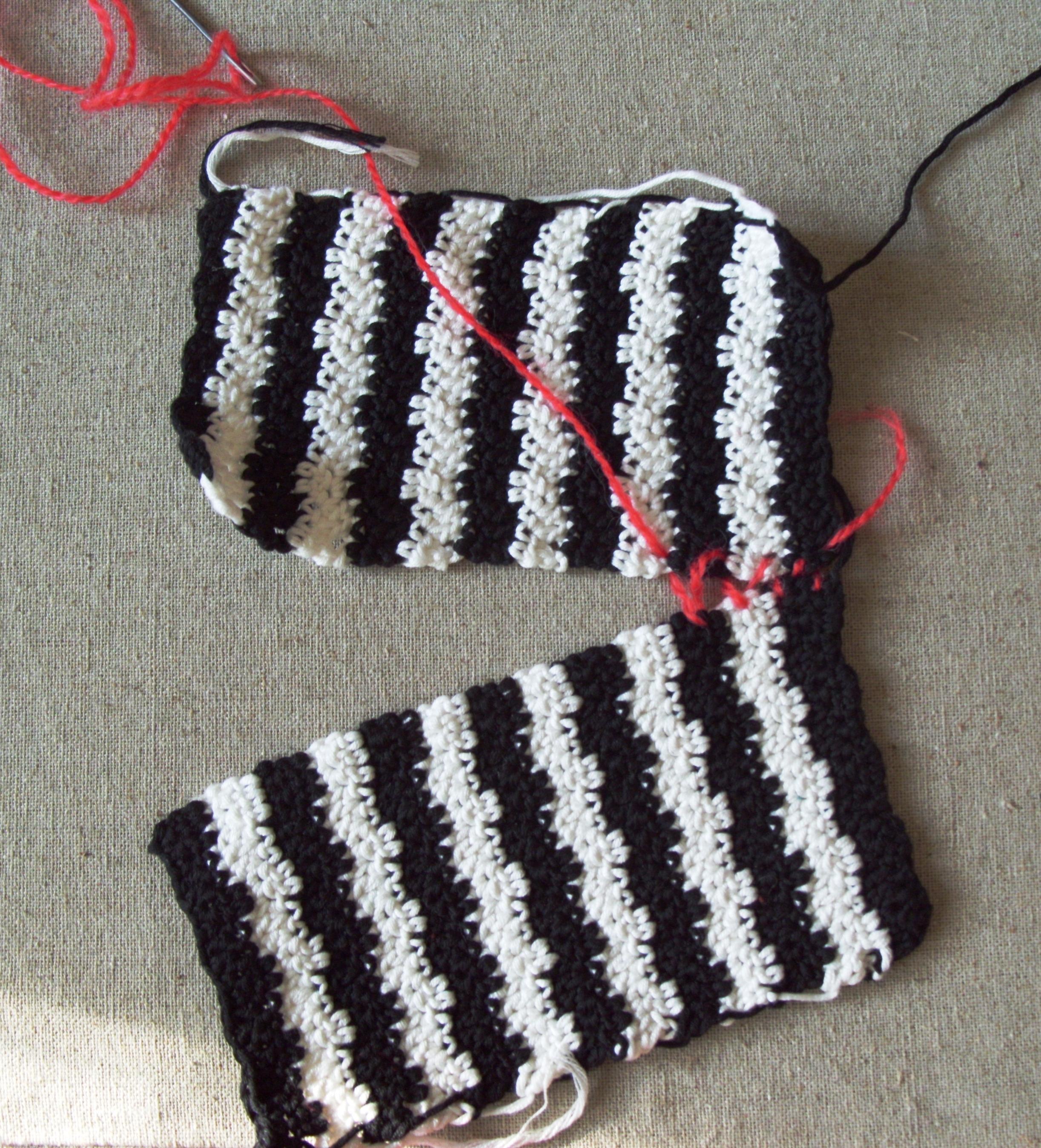 kötött pulóver összeállítása